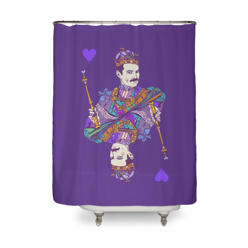 Love Rules Home Shower Curtain by Thomas Orrow