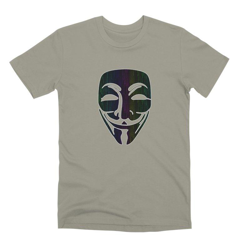 Colored Matrix Anonymous Guy Men's T-Shirt by Tom Spark Reviews Merch