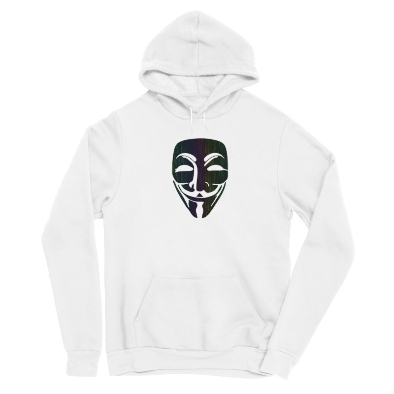 Colored Matrix Anonymous Guy Men's Pullover Hoody by Tom Spark Reviews Merch