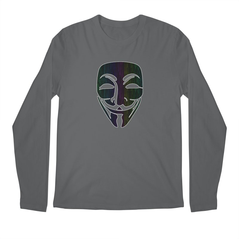 Colored Matrix Anonymous Guy Men's Longsleeve T-Shirt by Tom Spark Reviews Merch