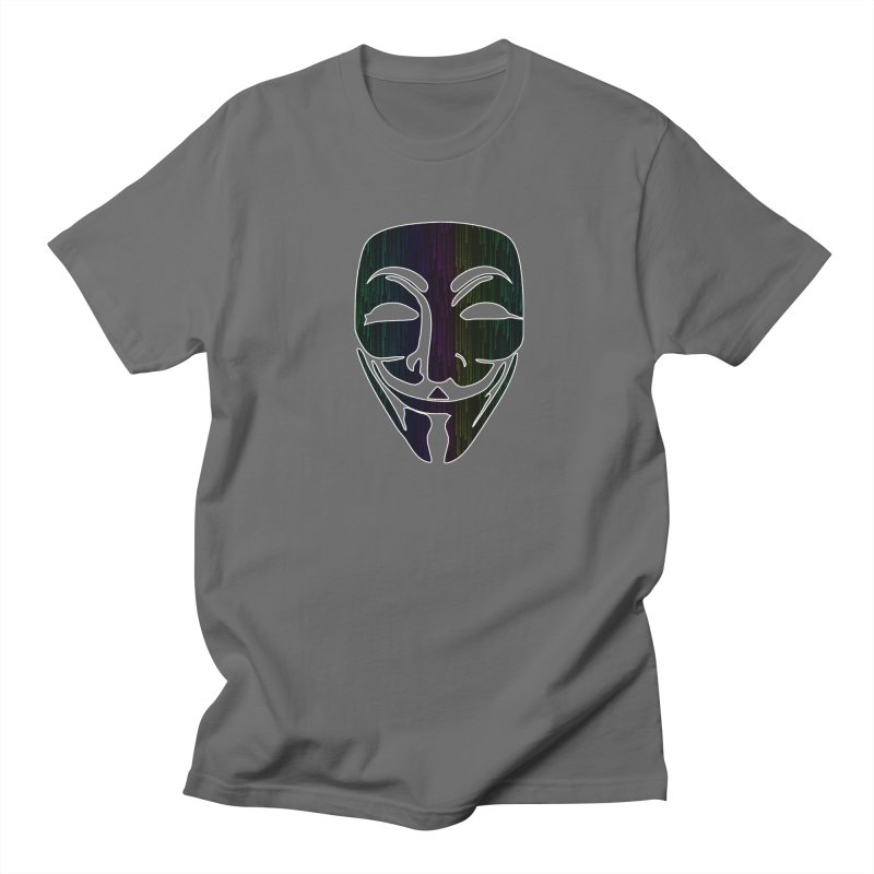 Colored Matrix Anonymous Guy Men's T-Shirt by Tom Spark Reviews Merch