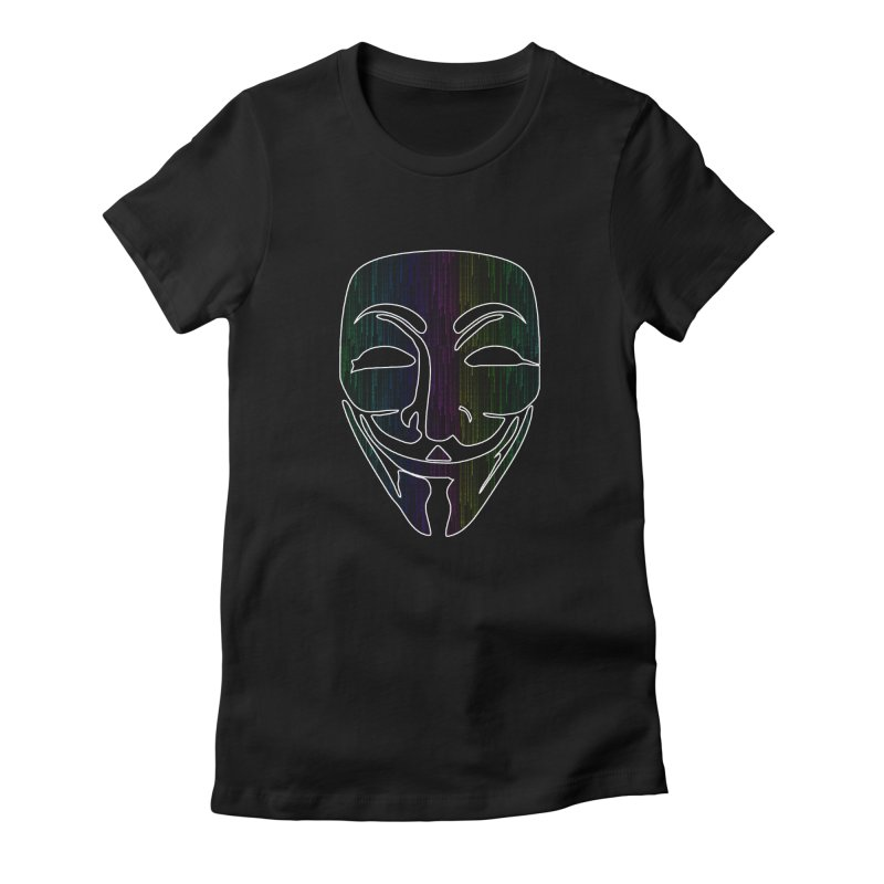 Colored Matrix Anonymous Guy Women's T-Shirt by Tom Spark Reviews Merch