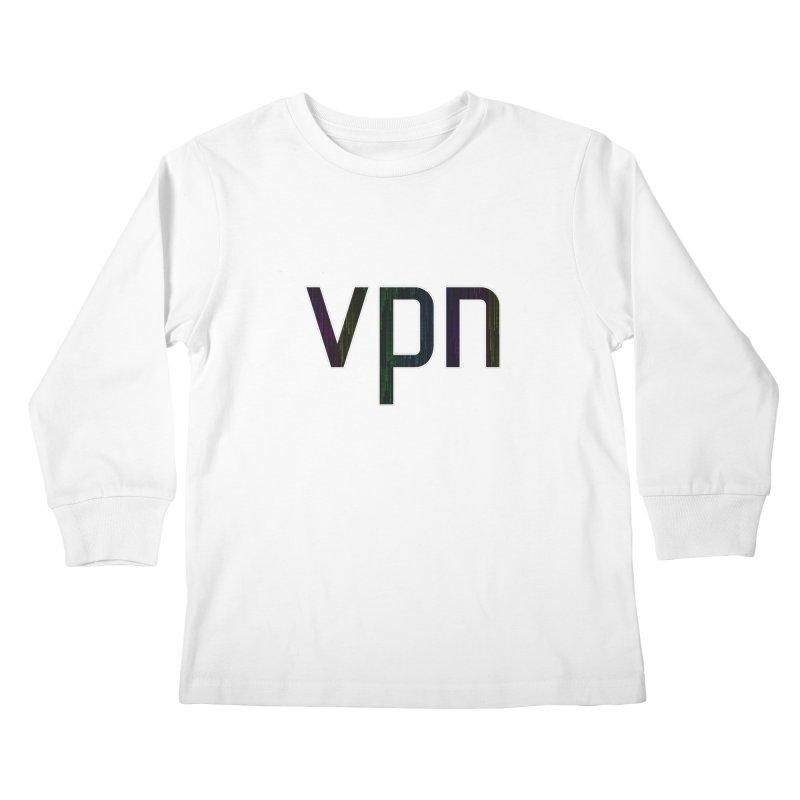 Colored Matrix VPN Kids Longsleeve T-Shirt by Tom Spark Reviews Merch