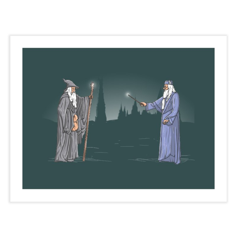 Gandalf vs Dumbledore Home Throw Pillow by Tomas Teslik's Artist Shop