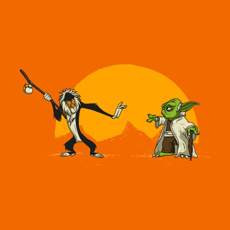Rafiki vs Yoda by Tomas Teslik's Artist Shop