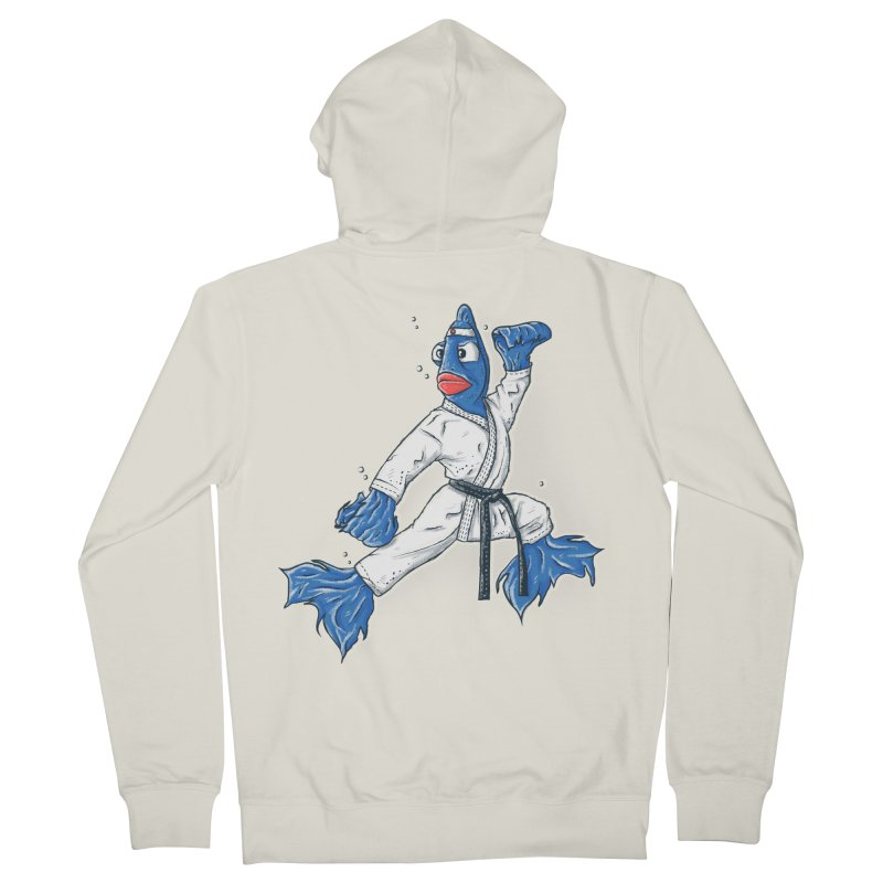 Fighting Fish Women's Zip-Up Hoody by Tomas Teslik's Artist Shop