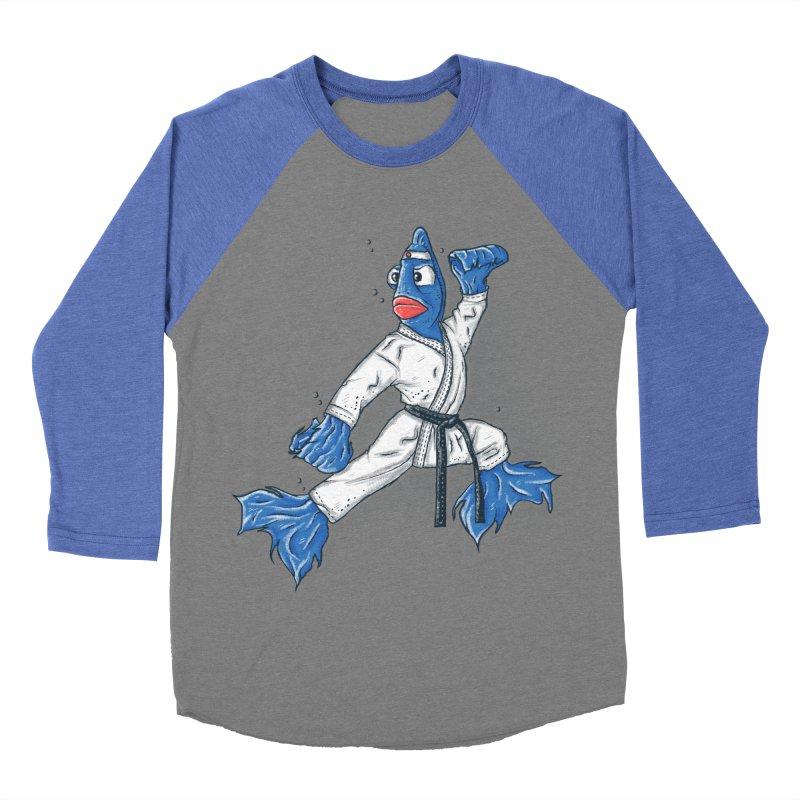 Fighting Fish Men's Baseball Triblend T-Shirt by Tomas Teslik's Artist Shop