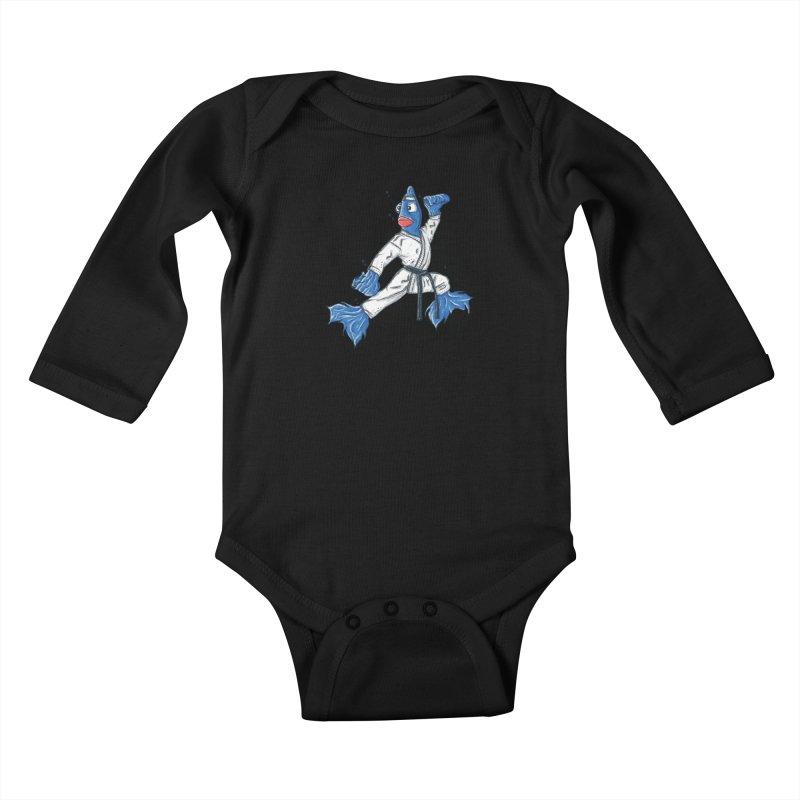Fighting Fish Kids Baby Longsleeve Bodysuit by Tomas Teslik's Artist Shop
