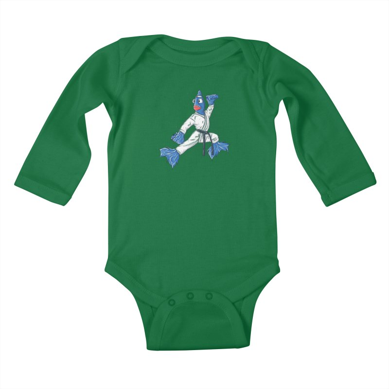 Fighting Fish Kids Baby Longsleeve Bodysuit by Tomas Teslik's Artist Shop