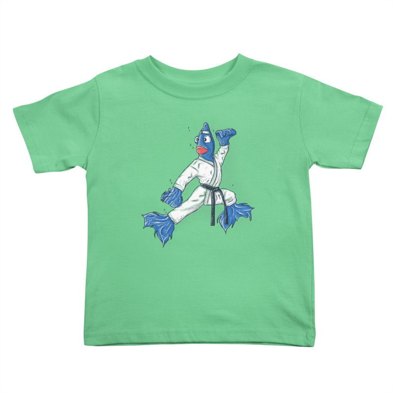 Fighting Fish Kids Toddler T-Shirt by Tomas Teslik's Artist Shop