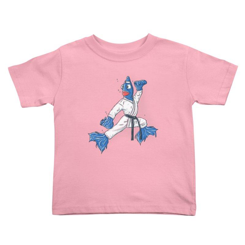 Fighting Fish Kids Toddler T-Shirt by Tomas Teslik's Artist Shop