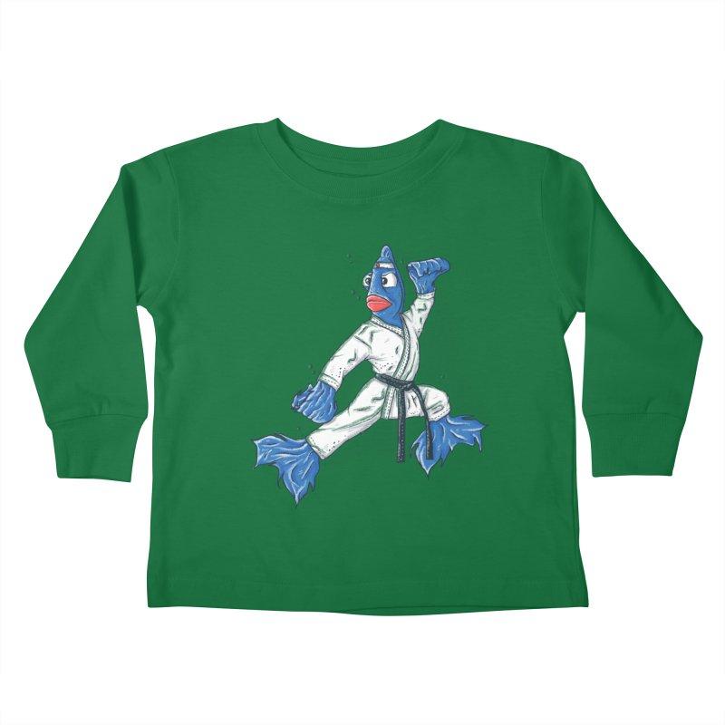Fighting Fish Kids Toddler Longsleeve T-Shirt by Tomas Teslik's Artist Shop