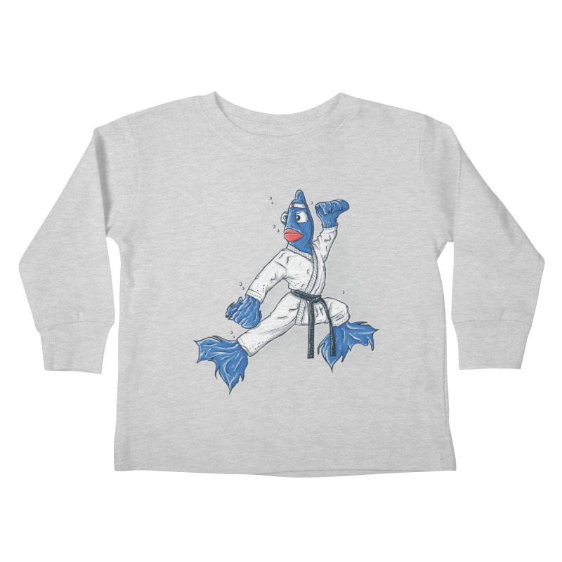 Fighting Fish Kids Toddler Longsleeve T-Shirt by Tomas Teslik's Artist Shop