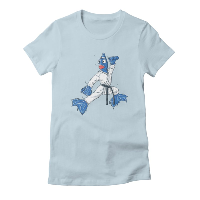 Fighting Fish Women's Fitted T-Shirt by Tomas Teslik's Artist Shop