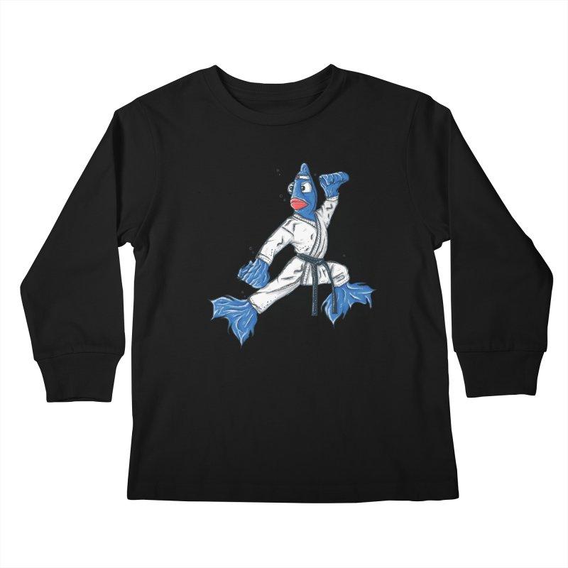 Fighting Fish Kids Longsleeve T-Shirt by Tomas Teslik's Artist Shop