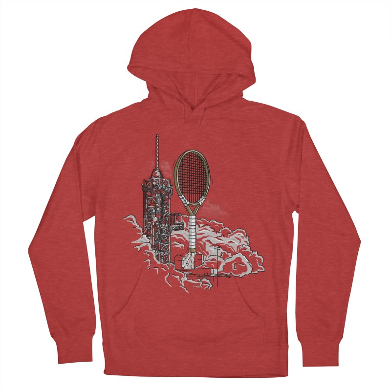 Space Rocket Men's Pullover Hoody by Tomas Teslik's Artist Shop