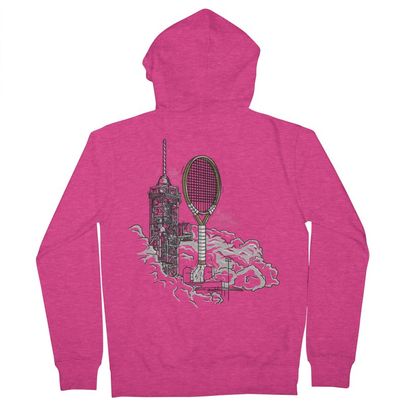 Space Rocket Women's Zip-Up Hoody by Tomas Teslik's Artist Shop