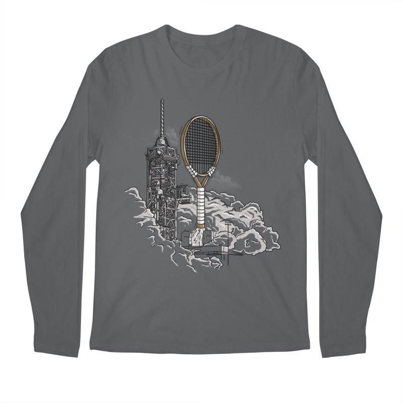 Space Rocket Men's Longsleeve T-Shirt by Tomas Teslik's Artist Shop