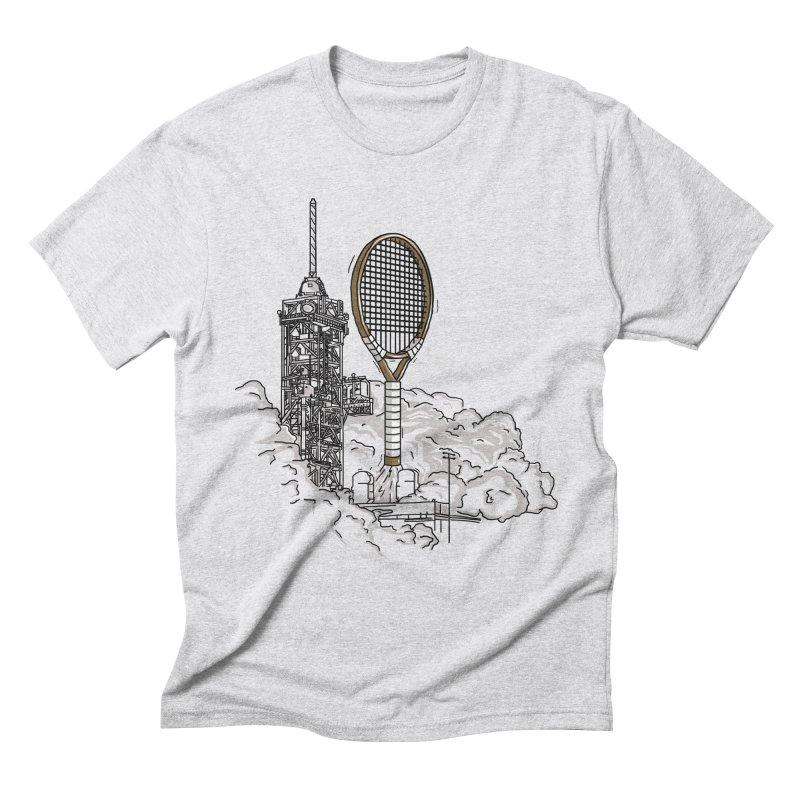 Space Rocket Men's Triblend T-Shirt by Tomas Teslik's Artist Shop