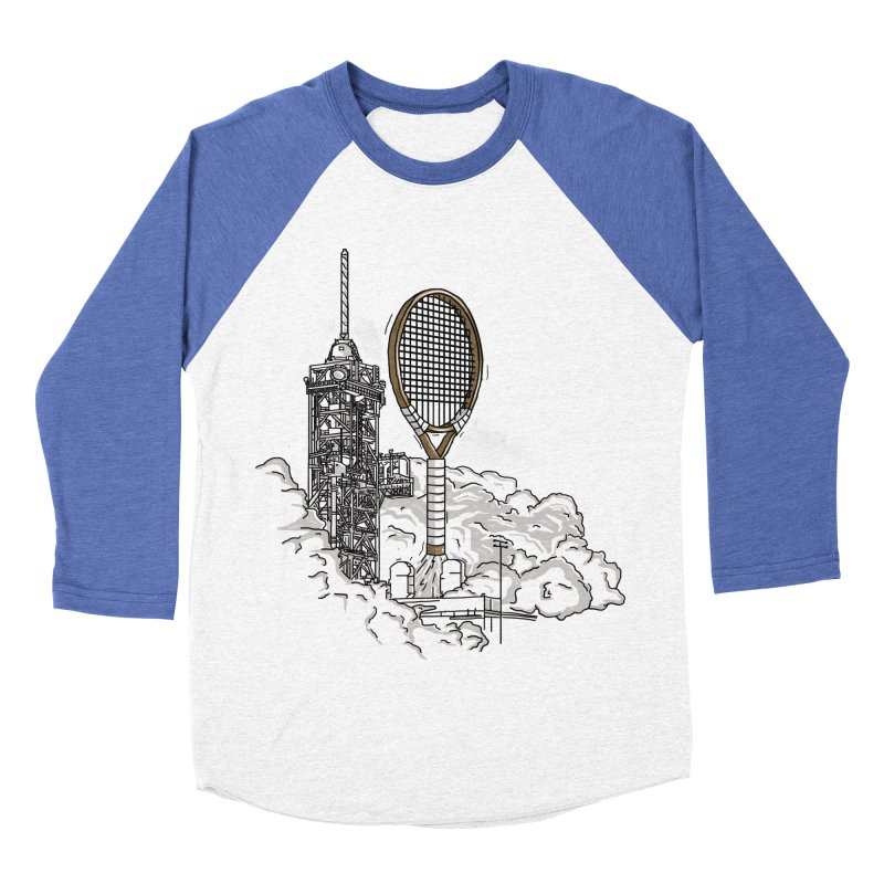 Space Rocket Women's Baseball Triblend T-Shirt by Tomas Teslik's Artist Shop