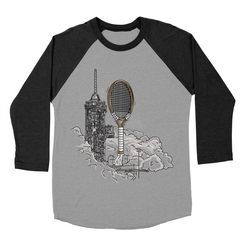 Space Rocket Men's Baseball Triblend T-Shirt by Tomas Teslik's Artist Shop