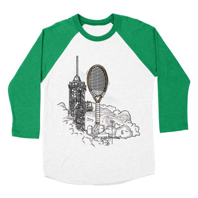 Space Rocket Men's Baseball Triblend T-Shirt by Tomas Teslik's Artist Shop