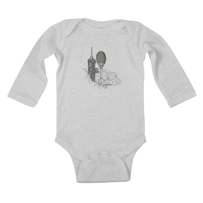 Space Rocket Kids Baby Longsleeve Bodysuit by Tomas Teslik's Artist Shop