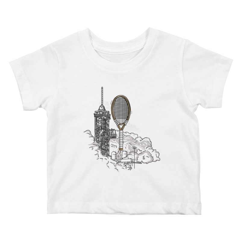 Space Rocket Kids Baby T-Shirt by Tomas Teslik's Artist Shop