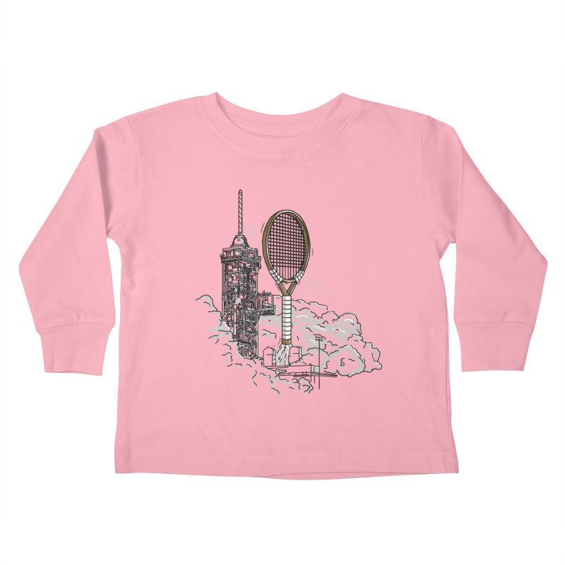 Space Rocket Kids Toddler Longsleeve T-Shirt by Tomas Teslik's Artist Shop