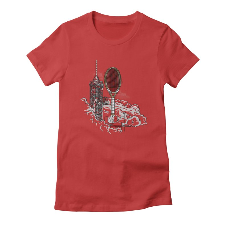 Space Rocket Women's Fitted T-Shirt by Tomas Teslik's Artist Shop