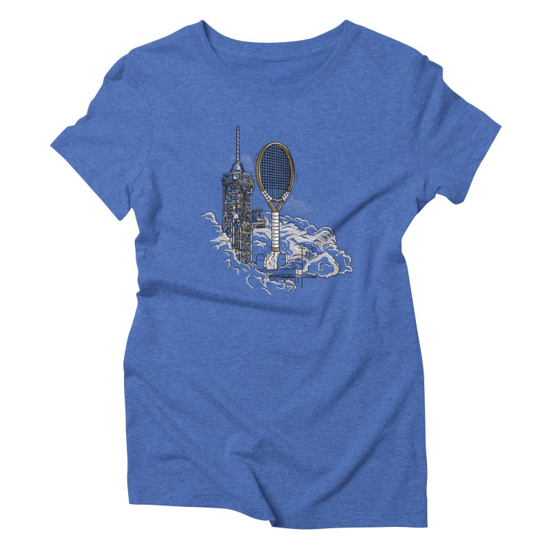 Space Rocket Women's Triblend T-Shirt by Tomas Teslik's Artist Shop