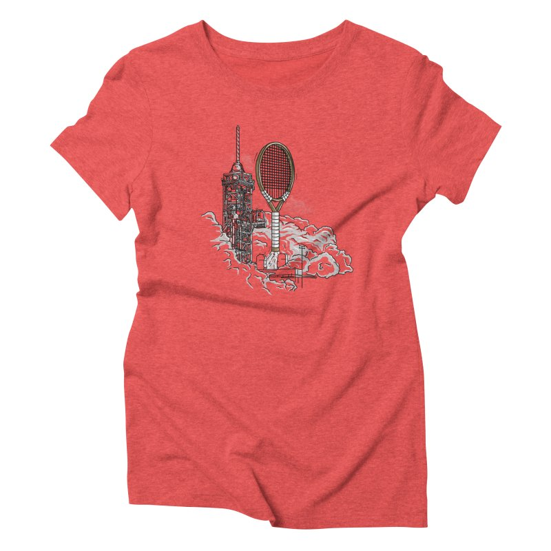 Space Rocket Women's Triblend T-Shirt by Tomas Teslik's Artist Shop