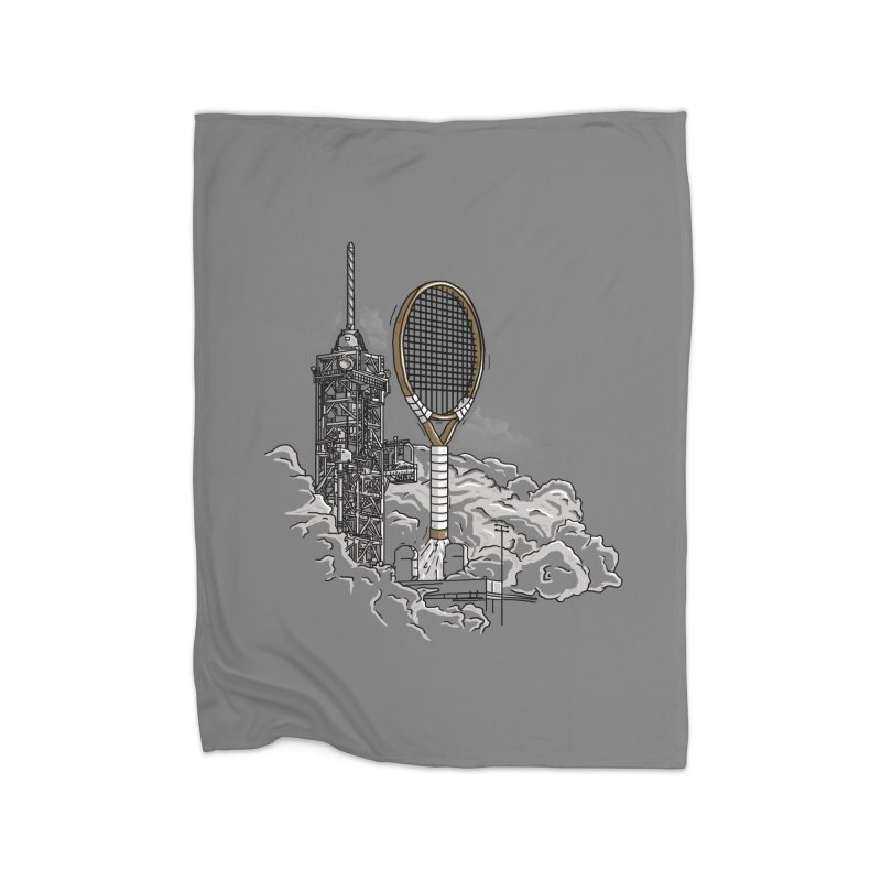 Space Rocket Home Blanket by Tomas Teslik's Artist Shop