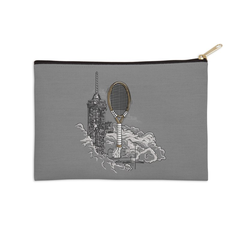 Space Rocket Accessories Zip Pouch by Tomas Teslik's Artist Shop