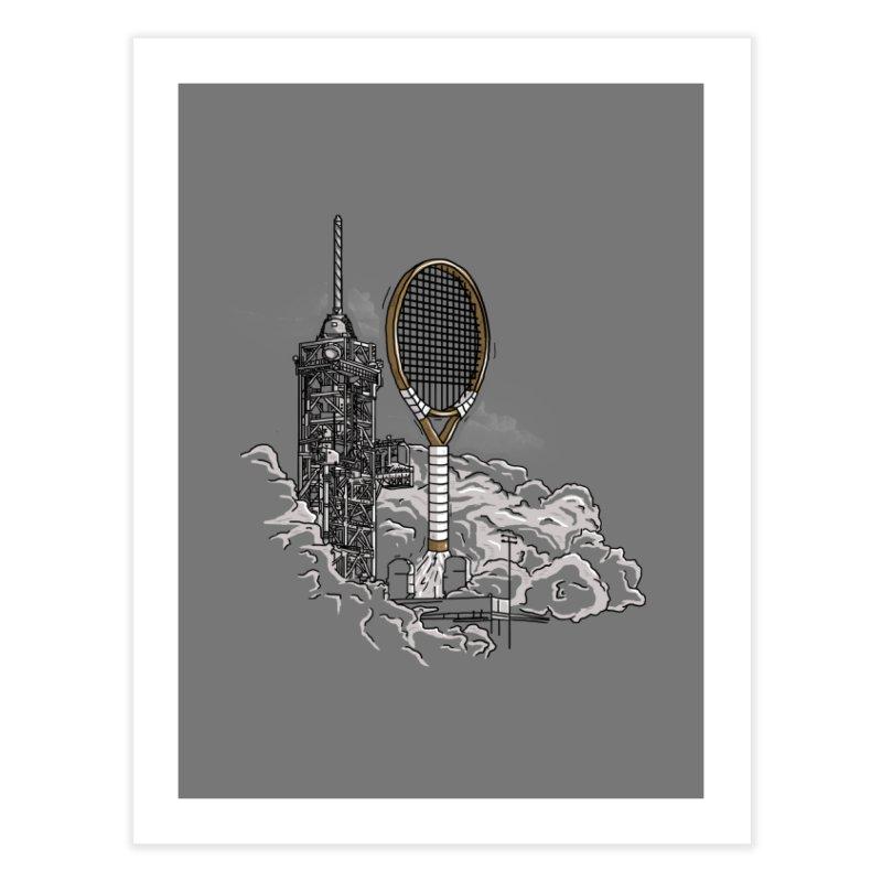 Space Rocket Home Fine Art Print by Tomas Teslik's Artist Shop