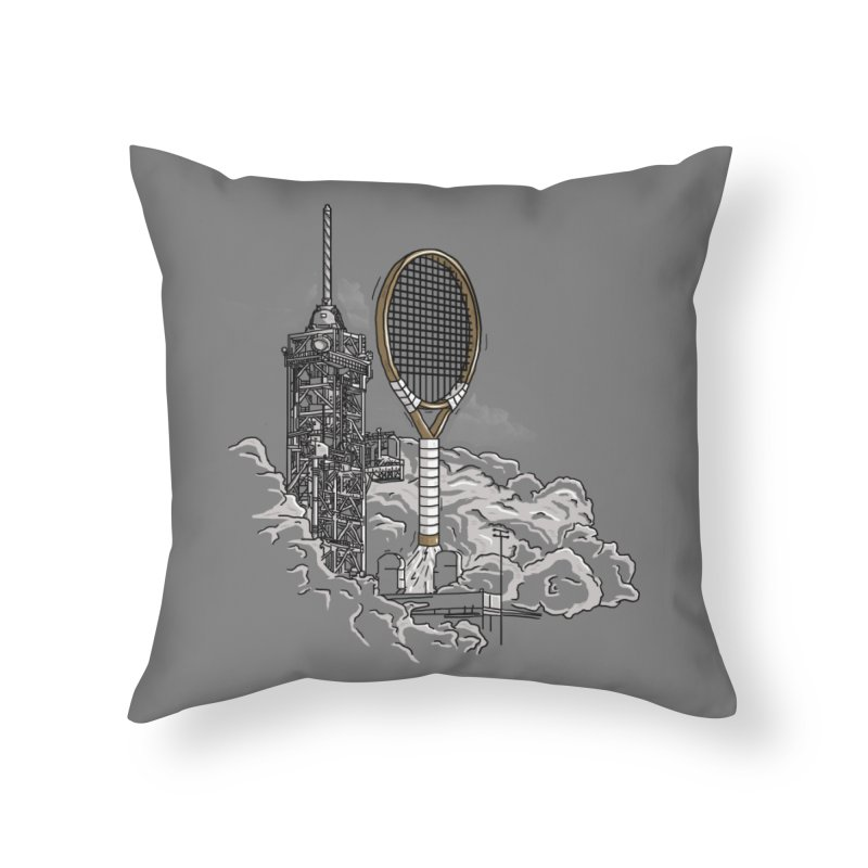 Space Rocket Home Throw Pillow by Tomas Teslik's Artist Shop