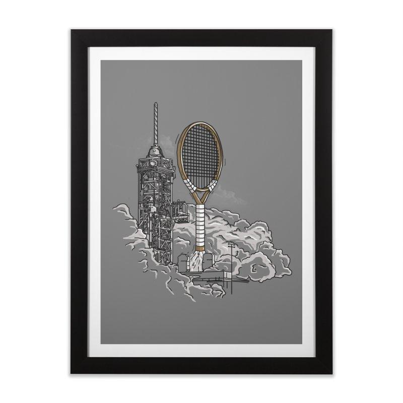 Space Rocket Home Framed Fine Art Print by Tomas Teslik's Artist Shop
