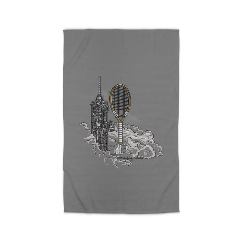 Space Rocket Home Rug by Tomas Teslik's Artist Shop