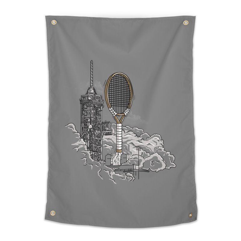 Space Rocket Home Tapestry by Tomas Teslik's Artist Shop