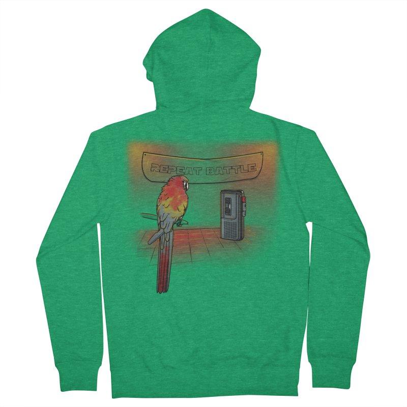 Repeat Battle Men's Zip-Up Hoody by Tomas Teslik's Artist Shop