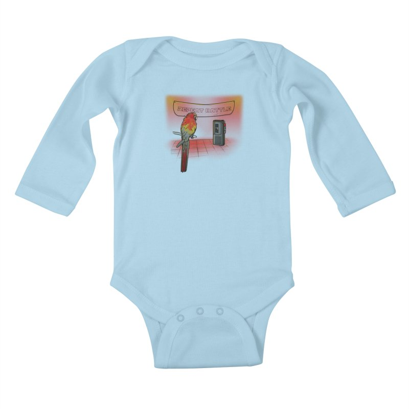 Repeat Battle Kids Baby Longsleeve Bodysuit by Tomas Teslik's Artist Shop