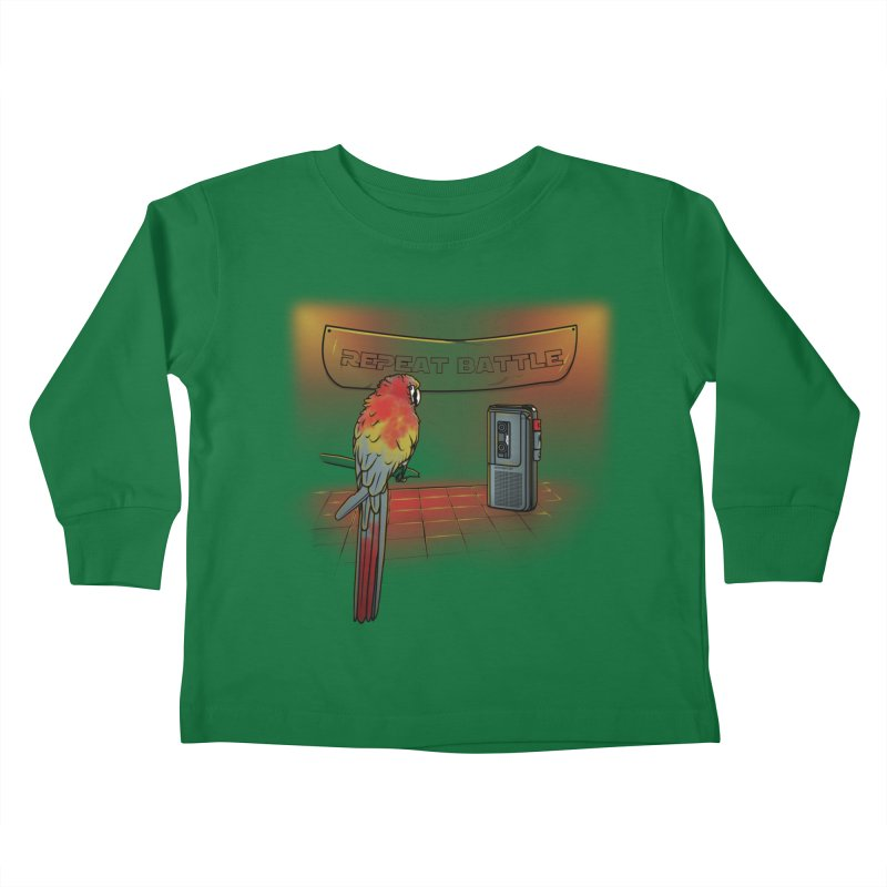 Repeat Battle Kids Toddler Longsleeve T-Shirt by Tomas Teslik's Artist Shop