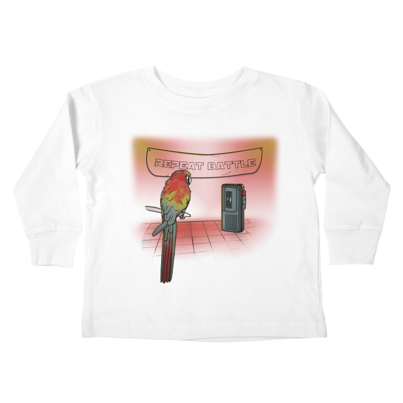Repeat Battle Kids Toddler Longsleeve T-Shirt by Tomas Teslik's Artist Shop