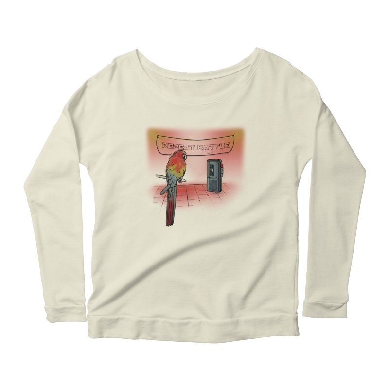 Repeat Battle Women's Longsleeve Scoopneck  by Tomas Teslik's Artist Shop