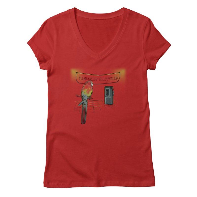Repeat Battle Women's V-Neck by Tomas Teslik's Artist Shop