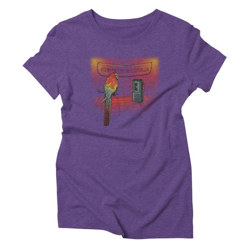 Repeat Battle Women's Triblend T-Shirt by Tomas Teslik's Artist Shop