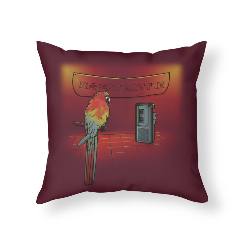 Repeat Battle Home Throw Pillow by Tomas Teslik's Artist Shop
