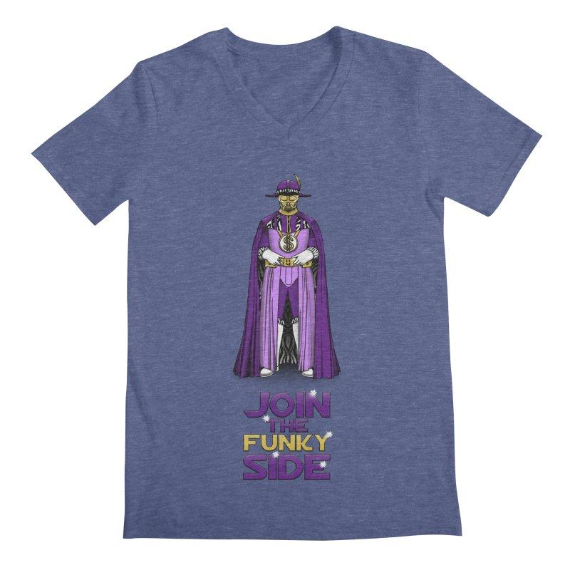 Join The Funky Side Men's V-Neck by Tomas Teslik's Artist Shop