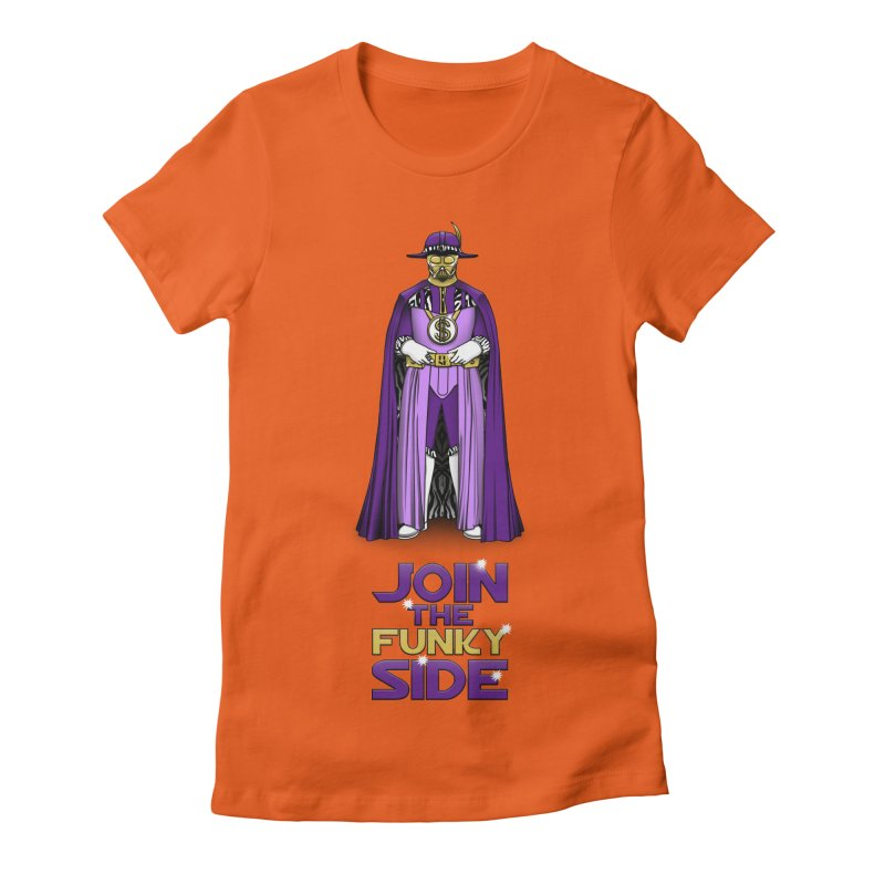 Join The Funky Side Women's Fitted T-Shirt by Tomas Teslik's Artist Shop