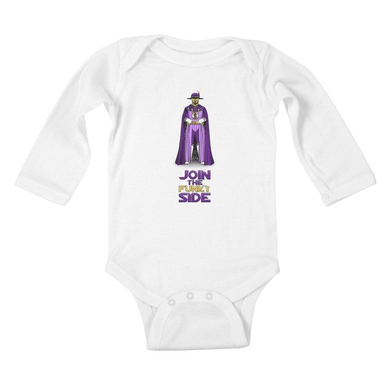 Join The Funky Side Kids Baby Longsleeve Bodysuit by Tomas Teslik's Artist Shop